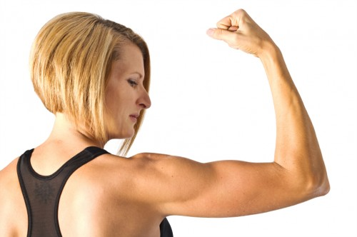 how to get rid of arm fat without gaining muscle