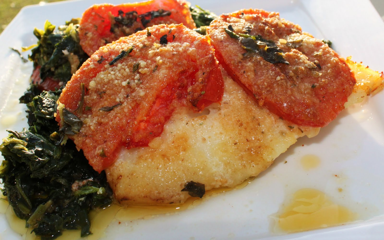 Baked cod with italian tomatoes and spinach dexter for How to bake cod fish in the oven