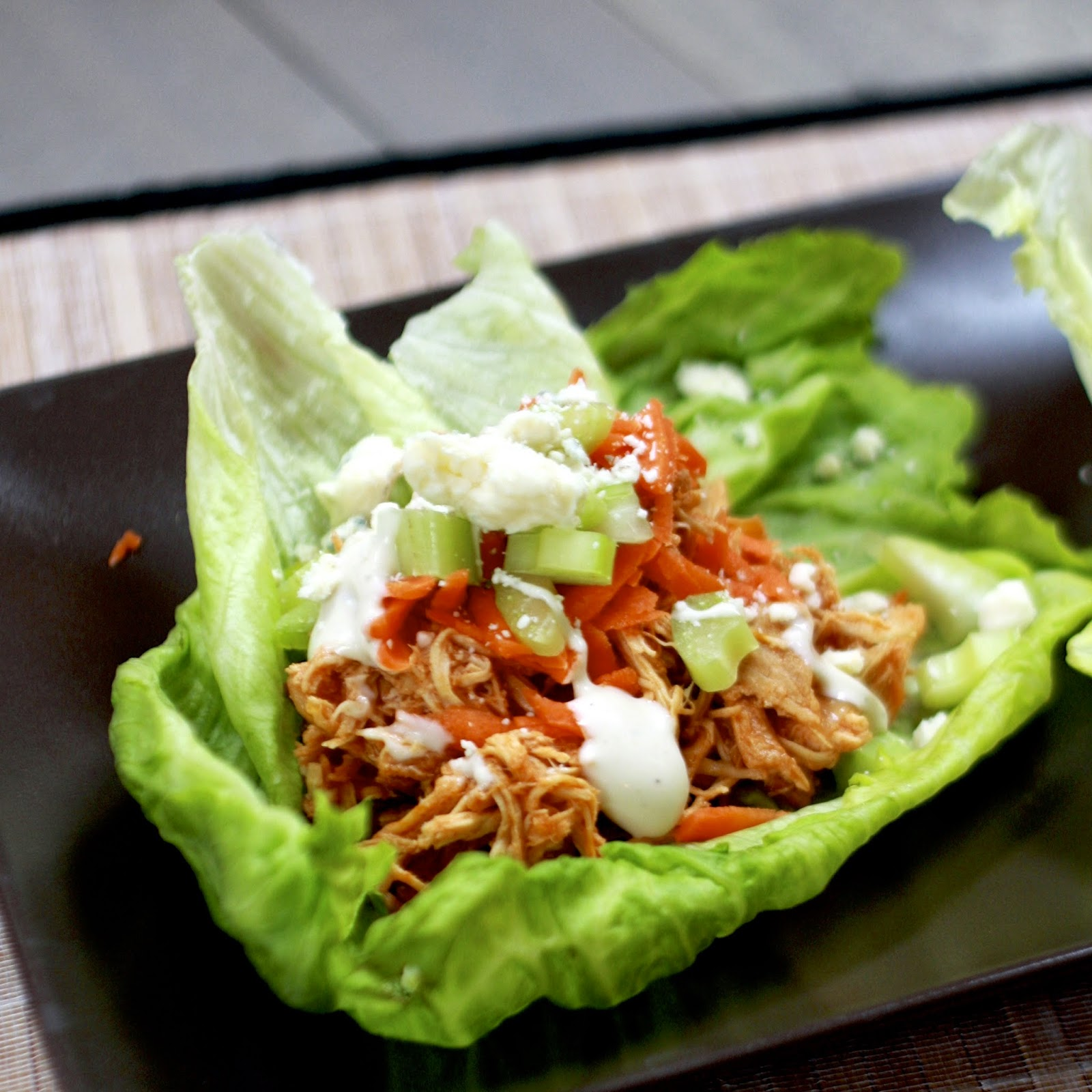 Crock Pot Buffalo Chicken Lettuce Wraps – Dexter Training Concepts